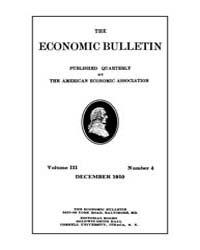 The Economic Bulletin : 1910 Dec. No. 4,... Volume Vol.3 by