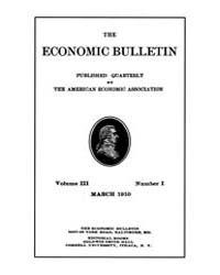 The Economic Bulletin : 1910 Mar. No. 1,... Volume Vol.3 by