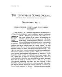 The Elementary School Journal : 1915 Nov... Volume Vol.16 by Gersten,russell