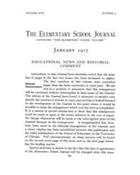 The Elementary School Journal : 1917 Jan... Volume Vol.17 by Gersten,russell