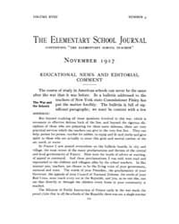 The Elementary School Journal : 1917 Nov... Volume Vol.18 by Gersten,russell