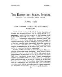 The Elementary School Journal : 1918 Apr... Volume Vol.18 by Gersten,russell