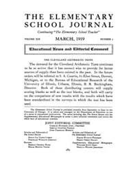 The Elementary School Journal : 1919 Mar... Volume Vol.19 by Gersten,russell