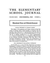 The Elementary School Journal : 1922 Dec... Volume Vol.23 by Gersten,russell
