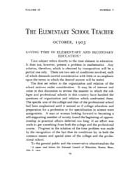 The Elementary School Teacher : 1903 Oct... Volume Vol.4 by Gersten,russell