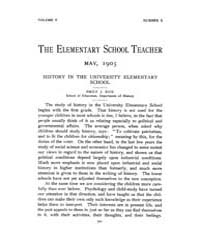 The Elementary School Teacher : 1905 May... Volume Vol.5 by Gersten,russell