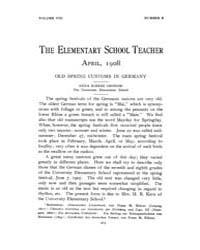 The Elementary School Teacher : 1908 Apr... Volume Vol.8 by Gersten,russell