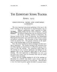 The Elementary School Teacher : 1913 Apr... Volume Vol.13 by Gersten,russell