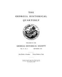 The Georgia Historical Quarterly : 1922 ... Volume Vol.6 by