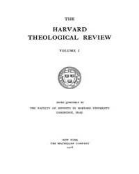 The Harvard Theological Review : 1908 Ja... Volume Vol.1 by