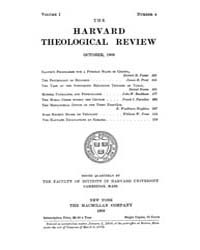 The Harvard Theological Review : 1908 Oc... Volume Vol.1 by