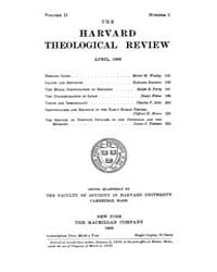 The Harvard Theological Review : 1909 Ap... Volume Vol.2 by