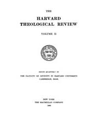 The Harvard Theological Review : 1909 Ja... Volume Vol.2 by