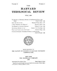 The Harvard Theological Review : 1909 Ju... Volume Vol.2 by
