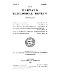 The Harvard Theological Review : 1909 Oc... Volume Vol.2 by