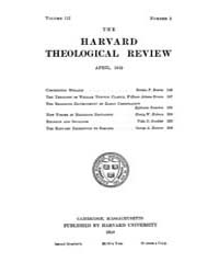 The Harvard Theological Review : 1910 Ap... Volume Vol.3 by