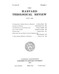 The Harvard Theological Review : 1910 Ju... Volume Vol.3 by