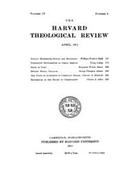 The Harvard Theological Review : 1911 Ap... Volume Vol.4 by