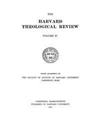 The Harvard Theological Review : 1911 Ja... Volume Vol.4 by