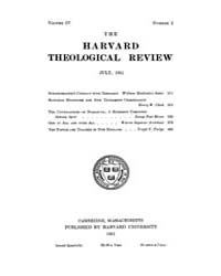 The Harvard Theological Review : 1911 Ju... Volume Vol.4 by