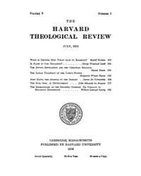 The Harvard Theological Review : 1912 Ju... Volume Vol.5 by