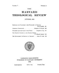 The Harvard Theological Review : 1912 Oc... Volume Vol.5 by