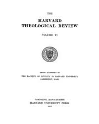 The Harvard Theological Review : 1913 Ja... Volume Vol.6 by