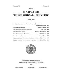 The Harvard Theological Review : 1913 Ju... Volume Vol.6 by