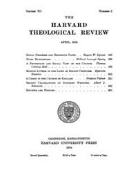 The Harvard Theological Review : 1914 Ap... Volume Vol.7 by