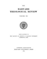 The Harvard Theological Review : 1914 Ja... Volume Vol.7 by