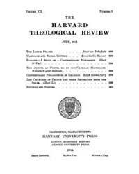 The Harvard Theological Review : 1914 Ju... Volume Vol.7 by