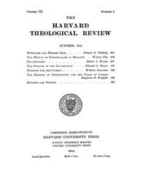 The Harvard Theological Review : 1914 Oc... Volume Vol.7 by