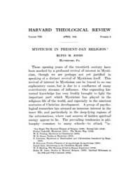 The Harvard Theological Review : 1915 Ap... Volume Vol.8 by