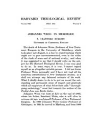 The Harvard Theological Review : 1915 Ju... Volume Vol.8 by