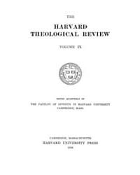 The Harvard Theological Review : 1916 Ja... Volume Vol.9 by