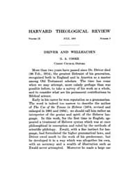 The Harvard Theological Review : 1916 Ju... Volume Vol.9 by