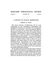 The Harvard Theological Review : 1916 Oc... Volume Vol.9 by
