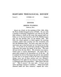The Harvard Theological Review : 1917 Oc... Volume Vol.10 by