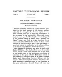 The Harvard Theological Review : 1918 Oc... Volume Vol.11 by
