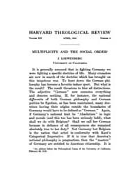 The Harvard Theological Review : 1919 Ap... Volume Vol.12 by