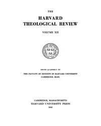 The Harvard Theological Review : 1919 Ja... Volume Vol.12 by