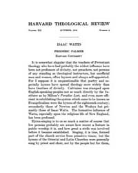The Harvard Theological Review : 1919 Oc... Volume Vol.12 by