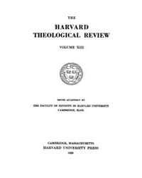 The Harvard Theological Review : 1920 Ja... Volume Vol.13 by