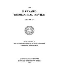 The Harvard Theological Review : 1921 Ja... Volume Vol.14 by