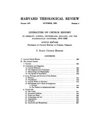 The Harvard Theological Review : 1921 Oc... Volume Vol.14 by