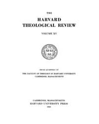 The Harvard Theological Review : 1922 Ja... Volume Vol.15 by