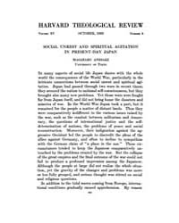 The Harvard Theological Review : 1922 Oc... Volume Vol.15 by