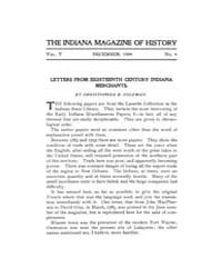 The Indiana Quarterly Magazine of Histor... Volume Vol.5 by