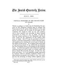 The Jewish Quarterly Review : 1891 Jul. ... Volume Vol.12 by