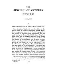 The Jewish Quarterly Review : 1899 Apr. ... Volume Vol.8 by